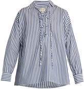 Nili Lotan Shiloh striped cotton-poplin shirt