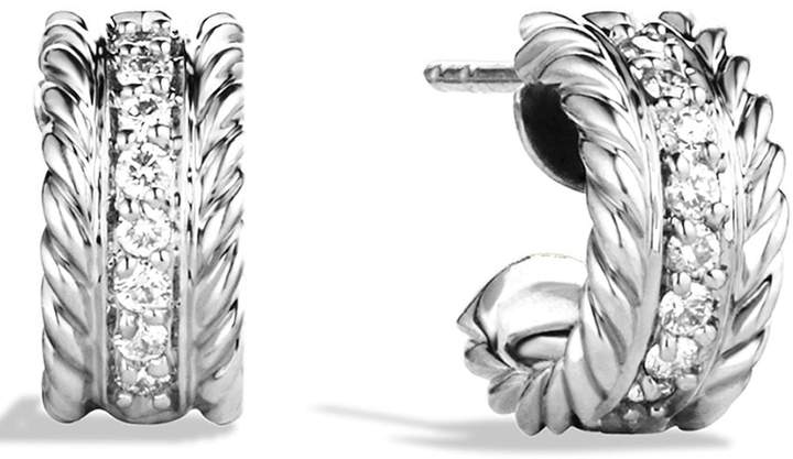 David Yurman 'Cable Classics' Extra-Small Earrings with Diamonds