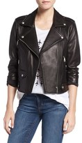 Rebecca Minkoff 'Wes' Perforated Panel Leather Moto Jacket