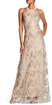 Dress the Population Valentina Backless Lace Maxi Dress