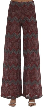 M Missoni Zig Zag Lurex Knit Flared Pants