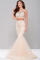 Jovani Two-Piece Sheer Neckline Dress JVN36891