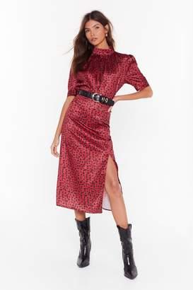 Nasty Gal Womens How Ya Feline Leopard Midi Skirt - red - 6
