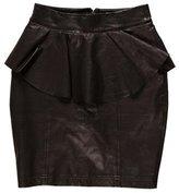 Torn By Ronny Kobo Leather Peplum Skirt