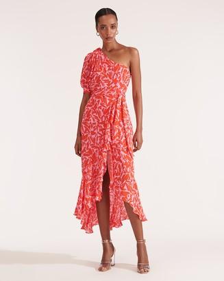 Veronica Beard Vie One-Shoulder Dress
