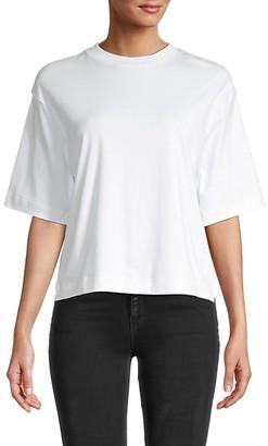 Vince Wide-Sleeve Crop T-Shirt