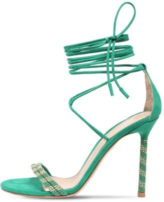 Gianvito Rossi 105mm Luna Embellished Suede Sandals