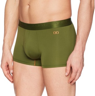 2xist Men's Military Sport No Show Trunk Black/White