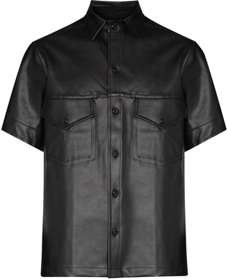 Tokyo James x Homecoming faux-leather shirt