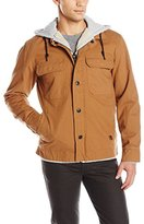 Billabong Men's Barlow Surfplus Sherpa Lined Workwear Style Jacket with Hood
