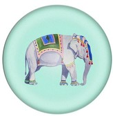 Cathy's Concepts Elephant Domed Glass Paperweight - Blue