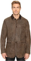 Scully Manor Mansion Goatskin Leather Elbow Patch Blazer