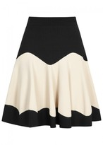 Alexander McQueen Monochrome Stretch-knit Mini Skirt