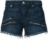 Derek Lam 10 Crosby zipped denim shorts - women - Cotton/Elastodiene - 24