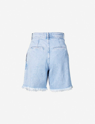 Free People Venice high-rise denim shorts