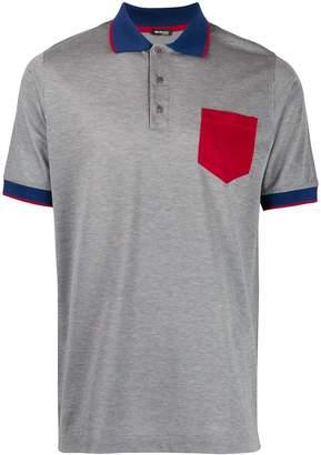 Kiton contrasting pocket polo shirt