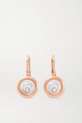Chopard Happy Spirit 18-karat Rose And White Gold Diamond Earrings - Rose gold
