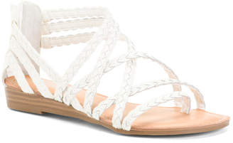 Strappy Demi Wedge Sandals