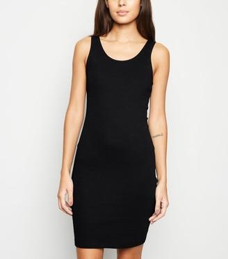 New Look Ribbed Scoop Neck Bodycon Mini Dress