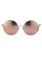 Matthew Williamson Peach Round Mirror Sunglasses