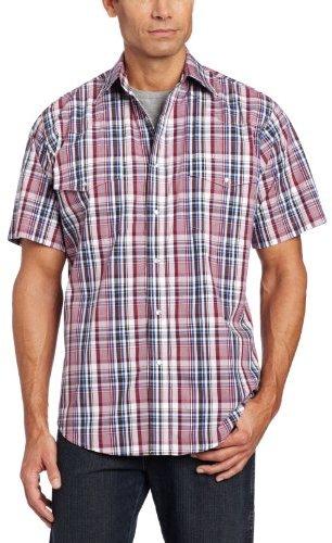 Wrangler Men's Wrinkle Resist Short Sleeve Western Shirt