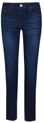 Liu Jo High Rise Skinny Jeans With Gemstones
