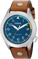 Fossil Men's Aeroflite AM4554 Leather Quartz Watch