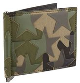 Valentino Camo Money Clip Billfold Wallet