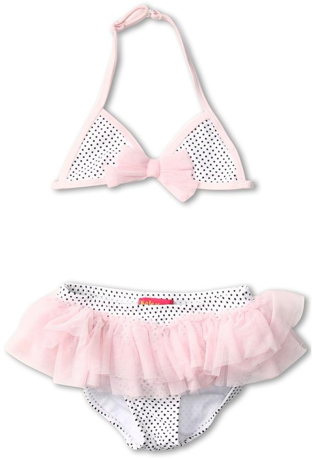 Kate Mack Jenny Annie Bikini (Toddler) (White/Black) - Apparel