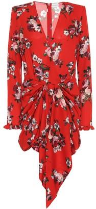 Magda Butrym Lesina floral silk-crepe minidress