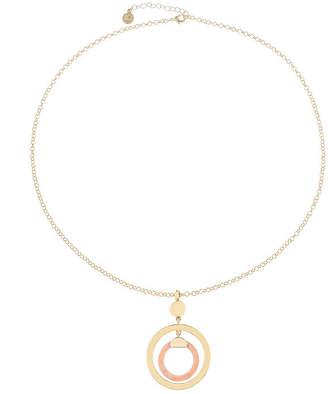 Liz Claiborne 26 Inch Cable Round Pendant Necklace