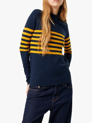French Connection Roll Neck Placement Stripe Jumper