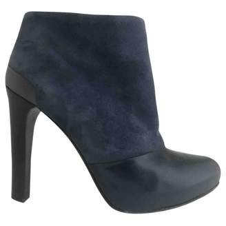 Fendi Anthracite Suede Ankle boots