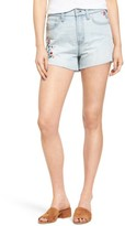 Madewell Women's Perfect Embroidered High Waist Denim Shorts