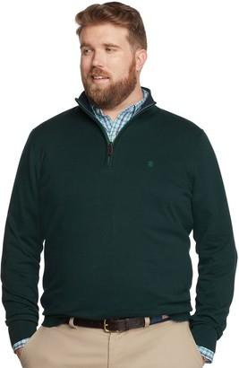Izod Big & Tall Premium Essentials Classic-Fit Quarter-Zip Sweater