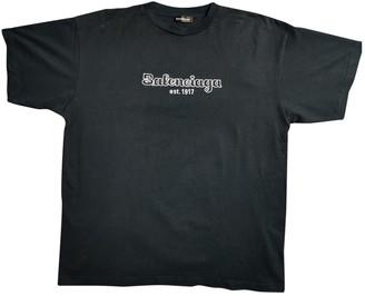Balenciaga Navy Cotton T-shirts