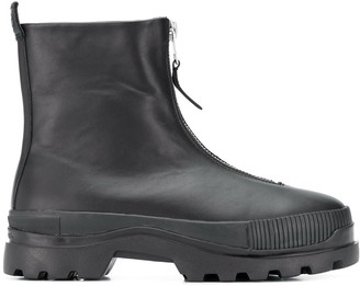 Diesel H-VAIONT front-zip ankle boots