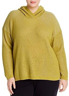 Eileen Fisher Plus Textured-Knit Hoodie