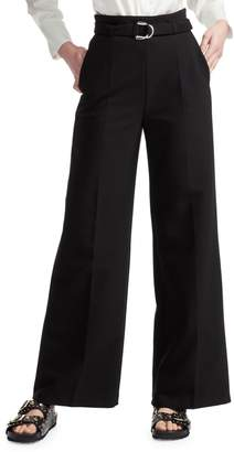 Maje High-Waisted Belted Trousers