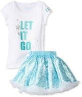 Tutu Couture Girl's Disney's Elsa Tee & Pettiskirt