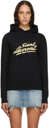 Saint Laurent Black 50s Signature Hoodie