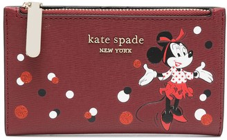 Kate Spade Minnie Mouse-print logo-plaque wallet