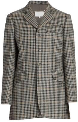 Maison Margiela Wool Check Blazer