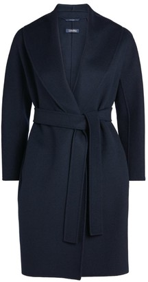 Max Mara Messi Wool Belted Wrap Coat