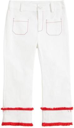 Stella Jean Stretch Cotton Gabardine Pants