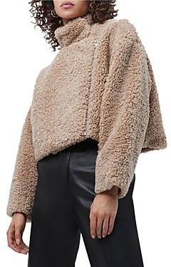 French Connection Iren Faux Fur Cropped Jacket