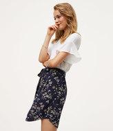 LOFT Petite Daisy Tie Waist Button Skirt