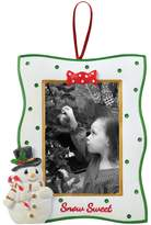 "Precious Moments 2"" x 3"" Snowman Photo Holder Christmas Ornament"