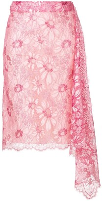 Calvin Klein lace asymmetric skirt