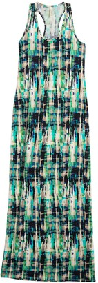 Loveappella Racerback Printed Maxi Dress